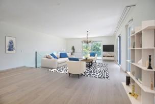 Duplex neuf en rez-de-jardin à Champel