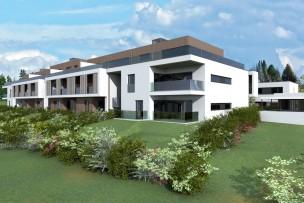 Rez-de-jardin neuf avec terrasse à Hermance