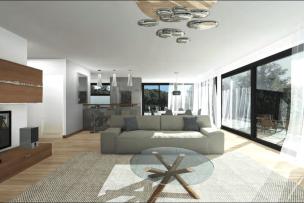 Bel attique de quatre pièces avec terrasse et balcon